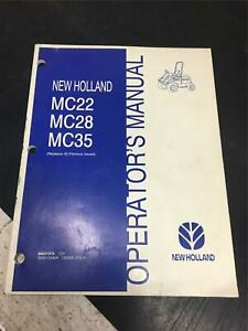 01 New Holland Operators Manual Mc22 Mc28 Mc35 Replaces All Previous Issues