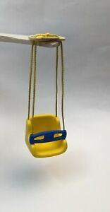 Vintage Little Tikes Dollhouse Size Swing Yellow $17.95