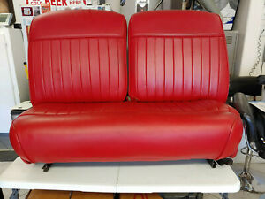 1940 Red Vinyl Ford Front Bench Seat