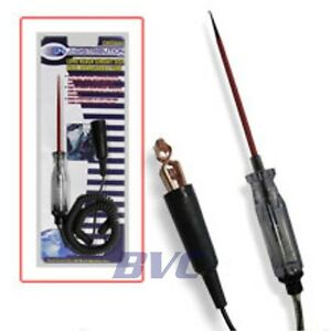 Circuit Tester Long Reach Test Light With Retractable Wire 6 And 12 Volt