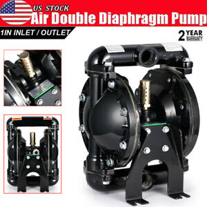 Air operated Double Diaphragm Pump Chemical Industrial Aluminium 1 inlet outlet