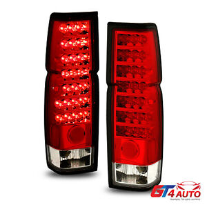 Red Clear Led Tail Lights Pair For 1986 97 Datsun D21 Nissan Hardbody Pickup