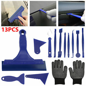 13x Car Window Tint Tool Kit Scraper Squeegee For Auto Film Tinting Installation