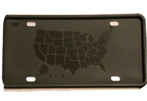 Silicone License Plate Frame Black Set Of 2