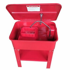 New 20 Gallon Automotive Parts Washer Cleaner Heavy Duty Electric Solvent Pump