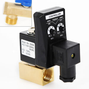 Automatic Timed Electronic Drain Valve For Air Compressor Water Tank 1 2 110v