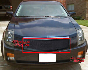 Fits 2003 2007 Cadillac Cts Black Mesh Grille Insert