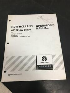 New Holland Operator s Manual 48 Snow Blade For Models 715648006 t0s0001 Up