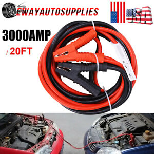 Heavy Duty Jumper Leads Booster Cables Battery 20ft 3000amp Car Van Clamps Start