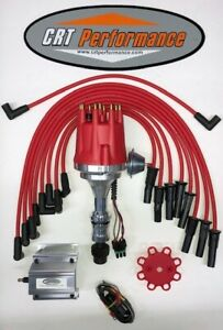 Small Cap Oldsmobile 350 400 403 455 Red Hei Distributor 60k Coil Plug Wires
