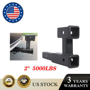 400lb Dual 2 Trailer Hitch Receiver Rise drop Adapter Extender Extension Tow