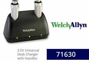 Welch Allyn 71630 Desk Charger With 2 Nicad Handles 71670 New