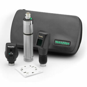 Welch Allyn Combined Set 3 5v Halogen Hpx Streak Retinoscope Ophthalmoscope