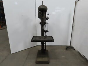 Sibley 24 Variable Speed Drill Press 8 Spindle Travel 220 440v 3 Phase