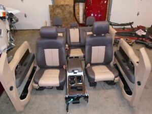11 12 13 14 Ford F150 Two Tone Leather Interior