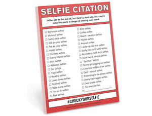 Selfie Citation Note Pad Nifty Notes By Knock Knock Funny Humor Gag Gift