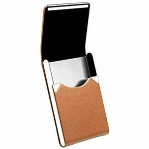 Padike Leather Business Card Holder Metal Case Slim Professional Name With Shut