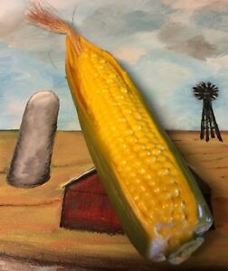 Artificial Fake Food Corn Produce Country Farm House Display Movie Prop Cs1