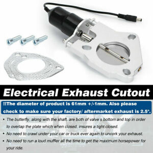 2 5 Electric Exhaust Down Pipe E Cut Cutout Valve Motor Remote Control Kit