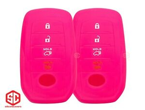 2x New Key Fob Remote Silicone Cover Fit For Select Toyota Vehicles