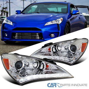 For 10 12 Hyundai Genesis 2dr Coupe Led Strip Projector Headlights Left Right