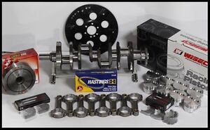 Sbc Chevy 427 Assembly Scat Wiseco Flat Top 4 125 Pistons 2pc Rms 350 Mains