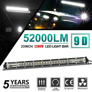 Slim 20inch 1200w Led Work Light Bar Double Row Driving Lamp For Ute Atv Suv 4wd