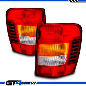 For 1999 2004 Jeep Grand Cherokee Red Oe Style Replacement Tail Lights Pair