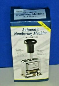 Rogers Automatic Numbering Stamp Machine With Ink And Stylus New