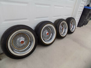 Vintage Mclean Wire Wheels Cadillac Lincoln Impala Cutlass Tru Spoke Lowrider 15