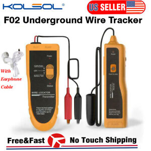 F02 Underground Wire Locator Cable Tracker Detector Pet Fence Wires Rj11 Rj45 Us