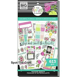 Happy Planner Stickers Book Colorful Florals 613