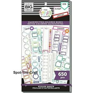 Happy Planner Stickers Book Handwritten Colored Boxes 650