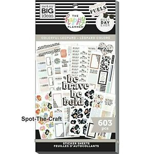 Happy Planner Stickers Book Colorful Leopard 603