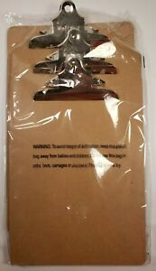 Lot Of 3 Trade Quest 9 12 5 Hardboard Durable Clipboard With Metal Clips