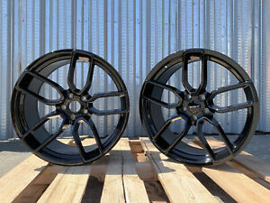 4 Dodge Hellcat Staggered Wheel Gloss Black Oe 20x9 5 20x10 5 Challenger Charger