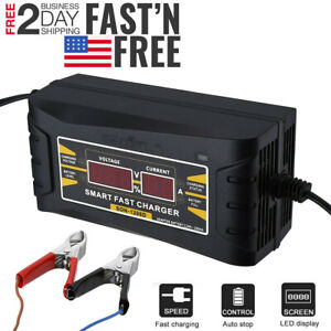 Used For Car And Motorcycle Lcd 12v 6a Automatic Fast Smart Battery Charger