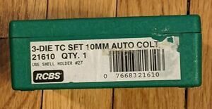 RCBS Die Set 40Samp;W amp; 10MM #21610 with shell holder #27 New unused in open box $98.00