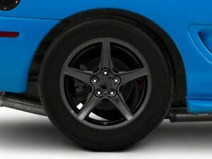 American Muscle Saleen Rear Wheel In Black 17x10 5 Fits Ford Mustang 1999 2004
