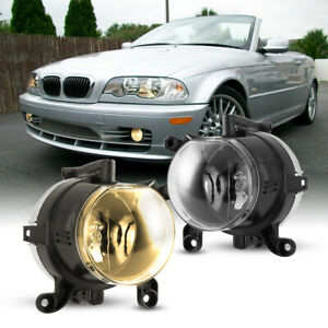 For 99 03 Bmw E46 325ci 330ci Fog Lights Clear Lens Replace Factory Lamp Pair