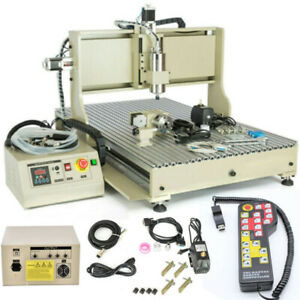 Usb 4 Axis 6090 Cnc Router Engraver Machine Woodworking Mill cutting 1 5kw Rc