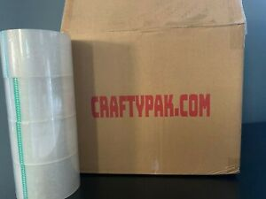 24 Rolls Clear Packaging Tape 3 X 110 Yards 2 Mil
