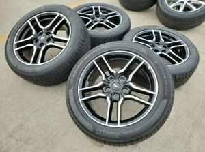 Brand New 18 Ford Mustang Gt Oem 2021 Black Wheels Rims Tires With Tpms Sensors