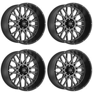 Set 4 18 Vision 412 Rocker Anthracite Rims 18x9 5x5 5 12mm Dodge Ram 1500 5 Lug