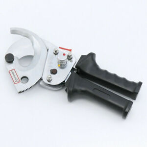 500mm Heavy Duty Copper Ratchet Cable Cutter Ratcheting Wire Cut Hand Tool