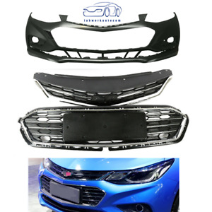 Front Bumper Upper Lower Grille Front Bumper Cover For 2016 2018 Chevy Cruze