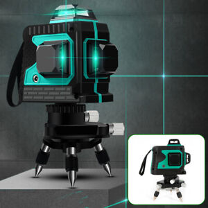 12 Lines 3d Cross Line Laser Self Leveling Rotary Laser Level Measure Tool Green