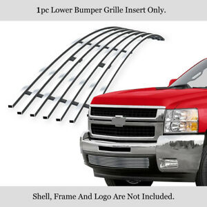 Fits 2007 2010 Chevy Silverado 2500 3500 Bumper Stainless Chrome Billet Grille