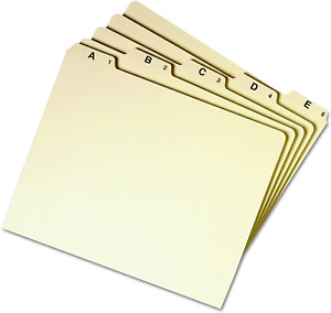 Smead Heavyweight File Guides 1 5 cut Tab a z Letter Size Manila Set Of 25