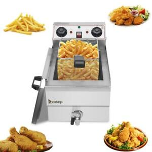 1700w 12l Electric Deep Fryer Commercial Countertop Basket French Fry Restaurant